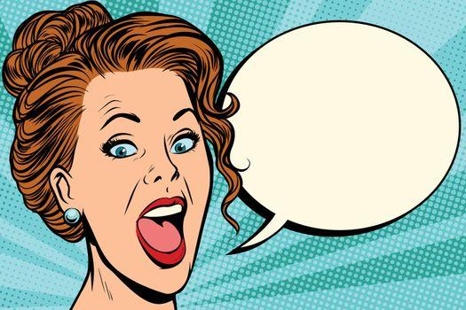 woman says comic bubble