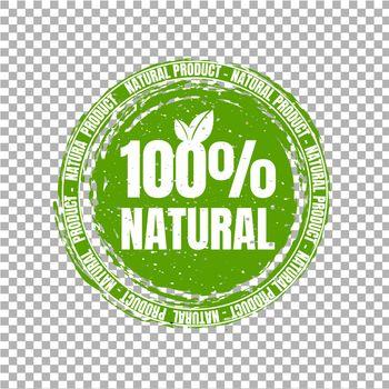 Natural Product Stamp Transparent Background