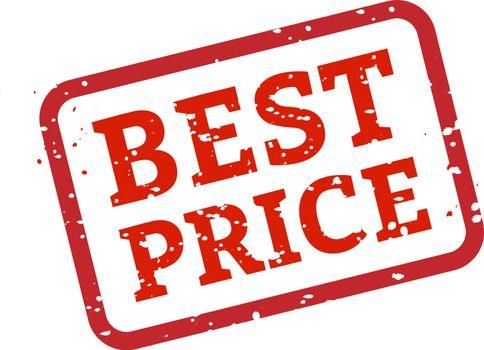 Best Price Stamp Sign White Background