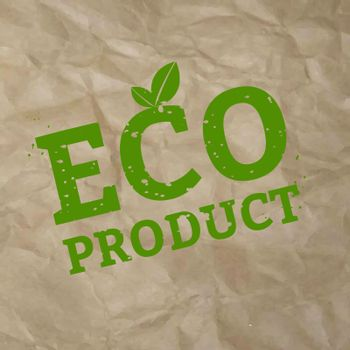 Eco Product Stamp Sign Cardboard Background