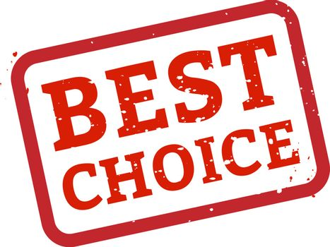 Best Choice Stamp Sign White Background