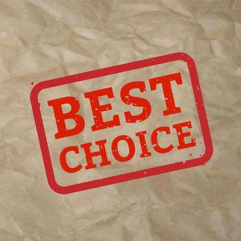 Best Choice Stamp Sign Cardboard Background