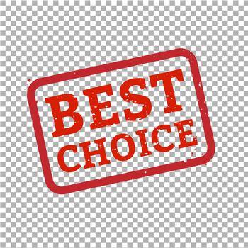 Best Choice Stamp Sign Transparent Background