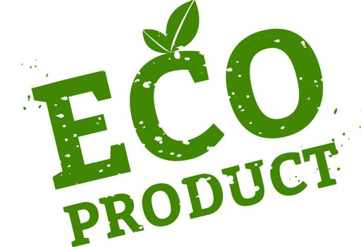 Eco Product Stamp Sign White Background