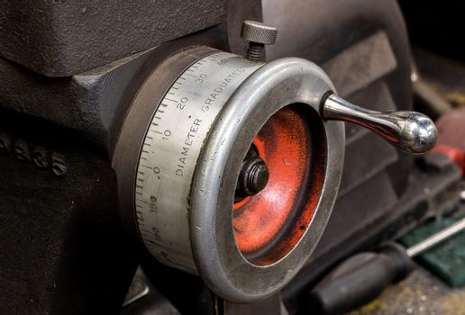 Vintage antique automotive machine shop brake lathe dial indicator