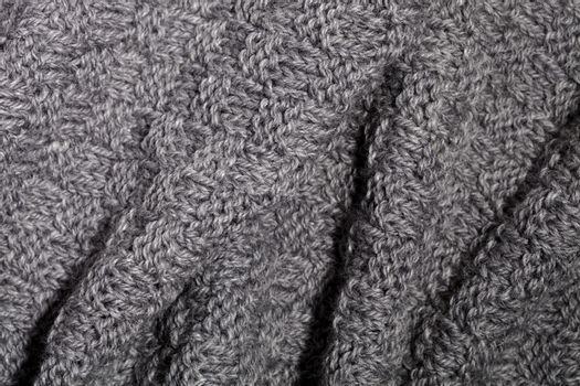 knitted grey scarf