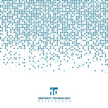 Abstract blue color square geometric with copy space, Technolog