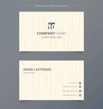 Creative business card and name card light brown wood pattern background template concept and commercial design. vector graphic illustration