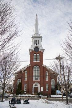 The beautiful Church at Newburyport MA, USA