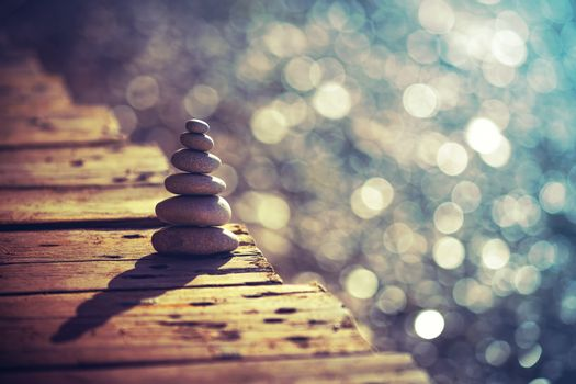 Inner peace and life in balance concept