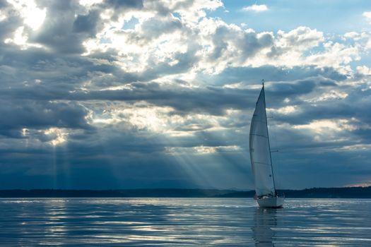 Sailboat a Sunset