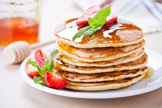Bunch Of Homemade Pancakes