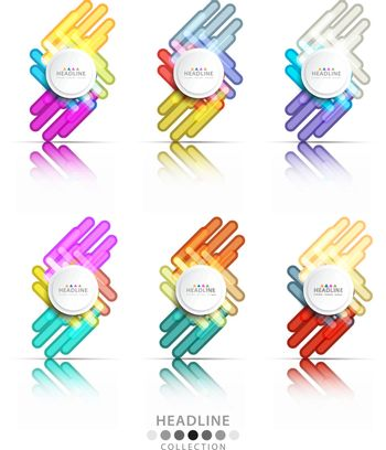 Brochure header colorful layout background template design collection