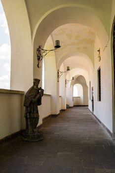 arcade of Palanok Castle inner courtyard