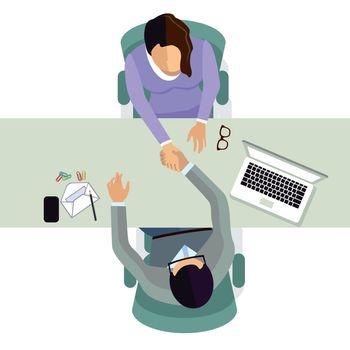 Hiring, job offer concept