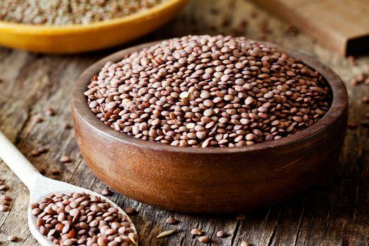 Bowls Of Organic Lentils