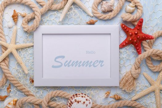 Hello summer Holiday concept