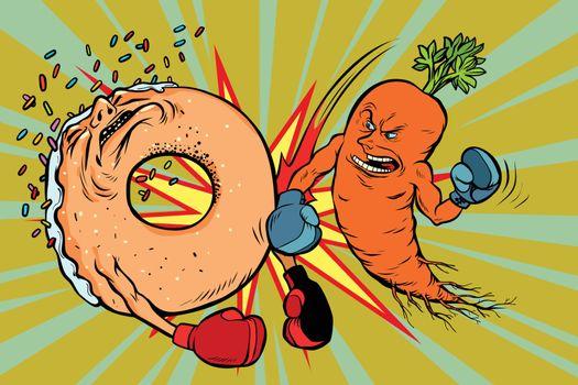 Carrots beats a donut