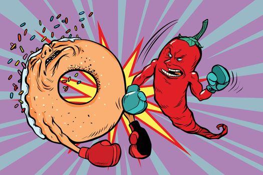 Red pepper beats a donut