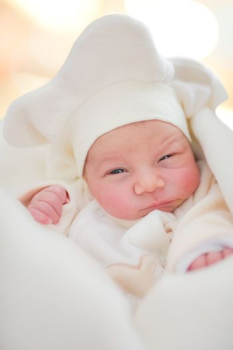 Portrait of newborn baby - three days young.