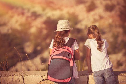 Kids enjoying hike