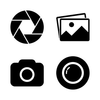 Foto camera icon set