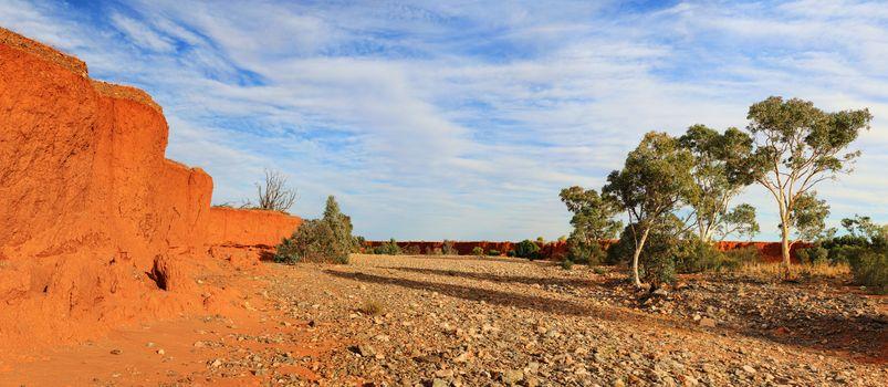 Dry river creek bed Central Australia