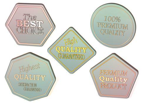 Set of Sale product badges. 3D rendering.