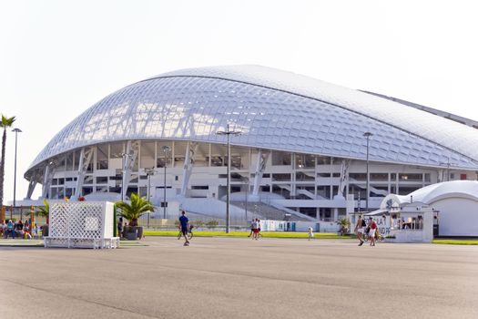 Photo of modern stadium Fischt in Russian Sochi