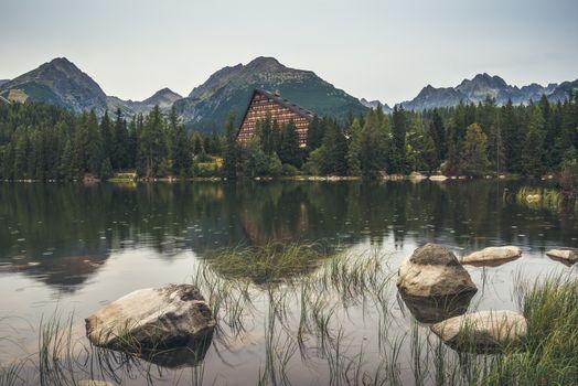 Mountain Lake under Peaks