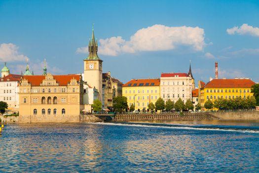 Smetana embankment in Prague Old Town