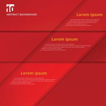 Abstract background with red paper overlap layers, template