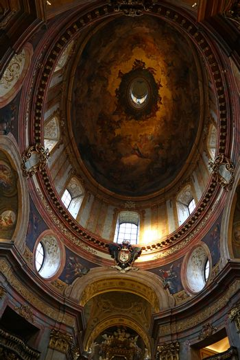 Cupola of baroque church of St Peter in Vienna
