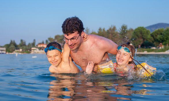 Father Siblings Summer Fun