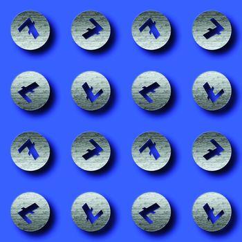 Litecoin Icons Background. 3D illustration.
