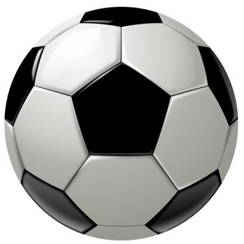 Black and white soccer ball or football