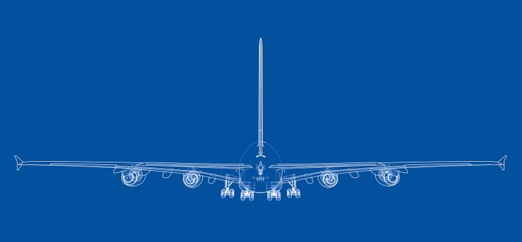 Passenger aircraft blueprint