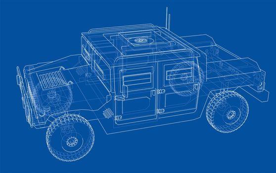 Combat car blueprint