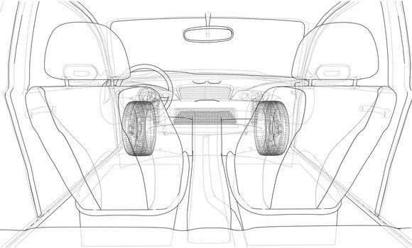 Interior of concept car