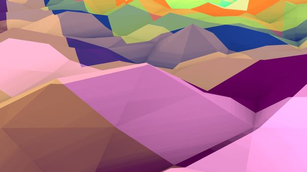 Lowpoly Backdrop with Bulging Surface