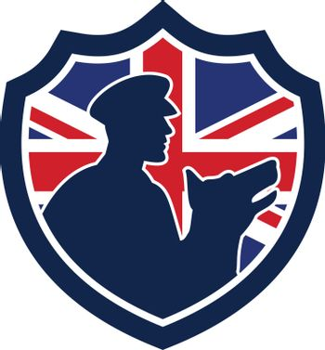 British Police Canine Team Crest Icon