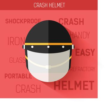 Helmet for self protect. Vector icon illustration background. Colorful template for you design, web and mobile applications concept