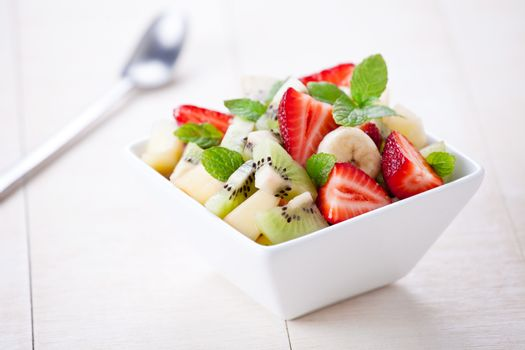 Close Up Of A Refreshing Fruit Salad