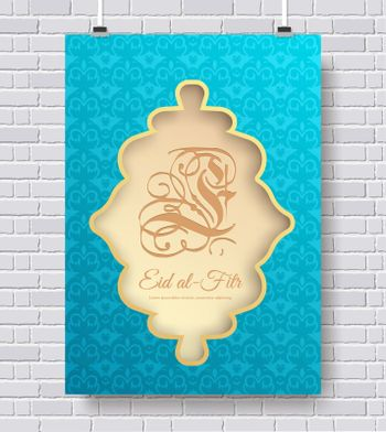 Set of eid al fitr ornament concept. Art traditional, magazine, book, poster, abstract, banners, element. Vector decorative ethnic greeting card or invitation design background