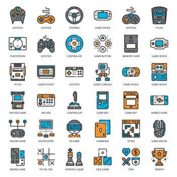 Game Technology filled outline icon
