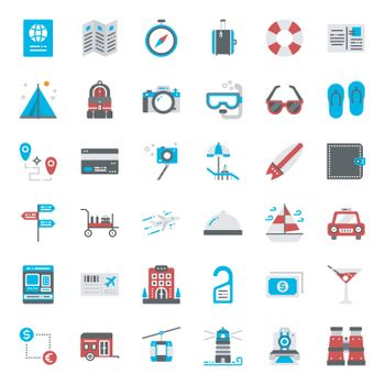 travel , pixel perfect flat icon, isolated on white background