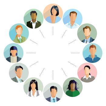 Groups of candidates, illustration