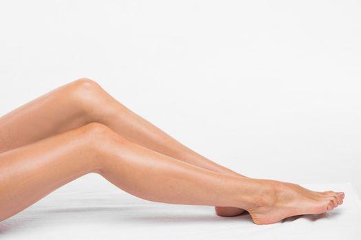 Female smooth silky legs