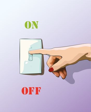 Turn off toggle style electric light wall switch. Conserve energy.