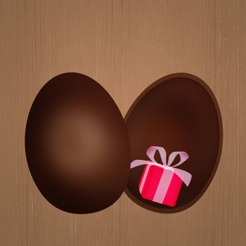 gift in the chocolate egg